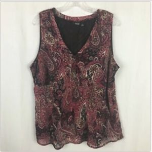 A.N.A. Women's Semi-Sheer Blouse - Size 1X